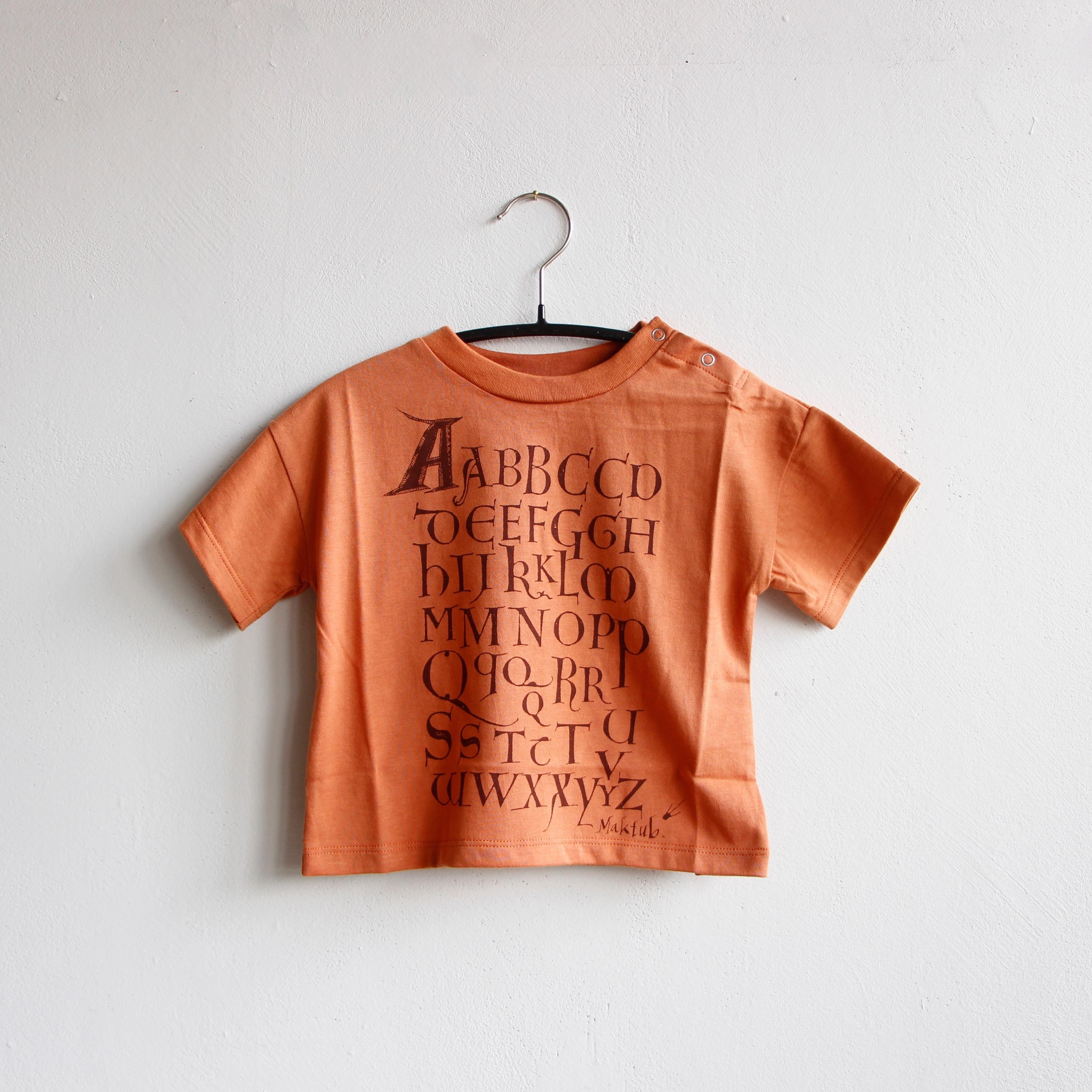 《eLfinFolk 2020SS》Maktub T-shirts / coral orange / 80-100cm