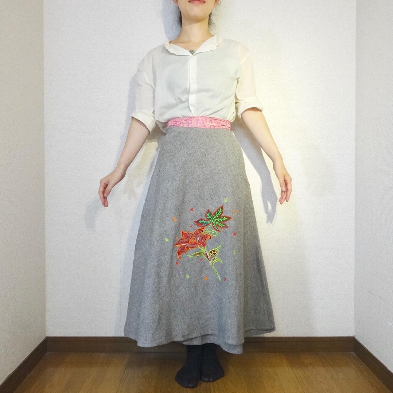 ebwg-006 刺繍コットン・サリー巻きスカート