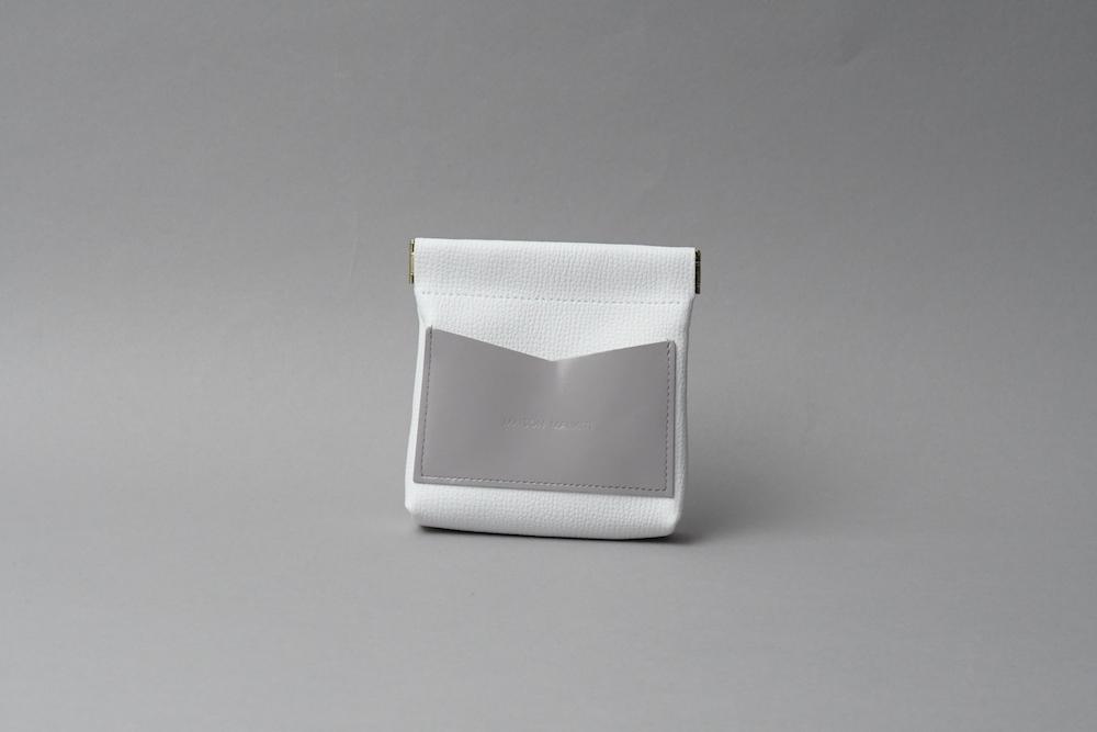 ワンタッチ・コインケース ■ホワイト・ラベンダー■ - 画像1