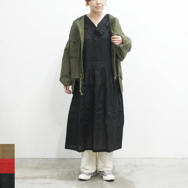 ichi イチ リネンフリルワンピース  (品番181118)