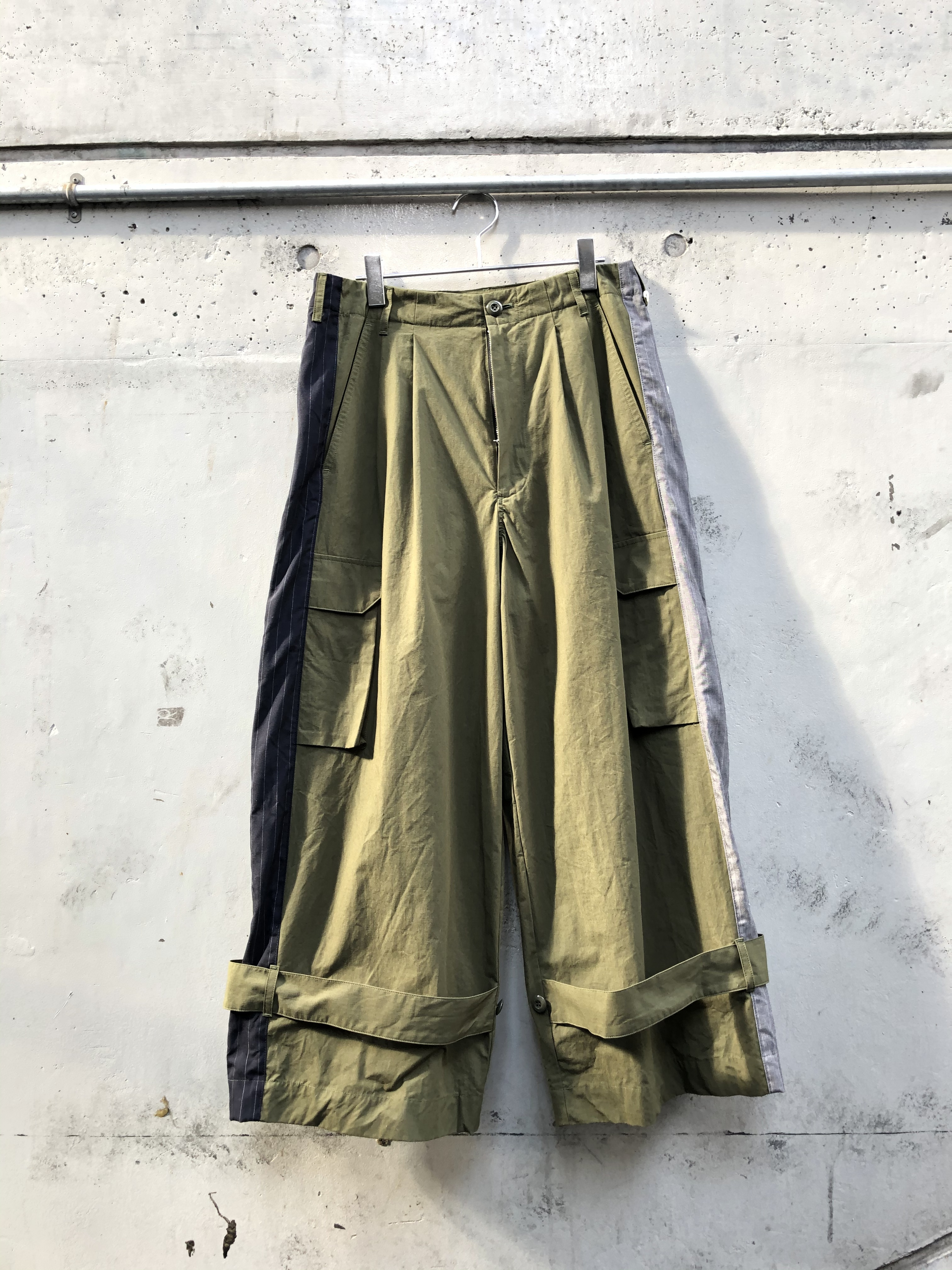 『my beautiful landlet』ripstop wide cargo pants/OLIVE SIZE 0