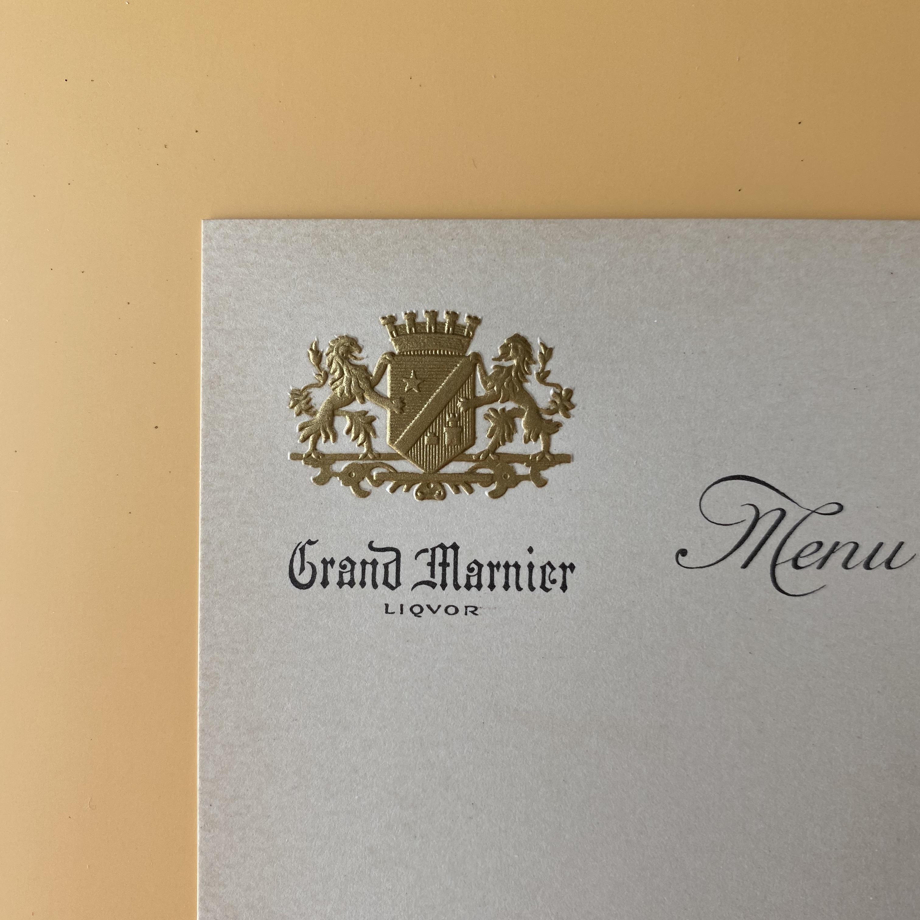 メニューシート(Grand Marnier / S)/ vp0070