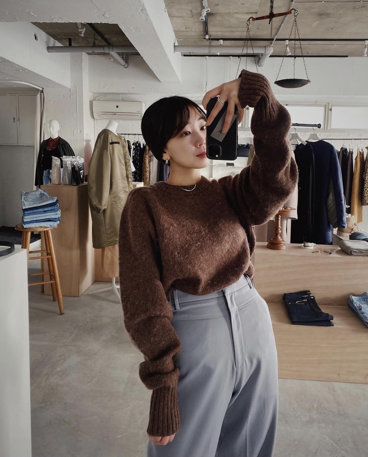 vintage sweater - brown -