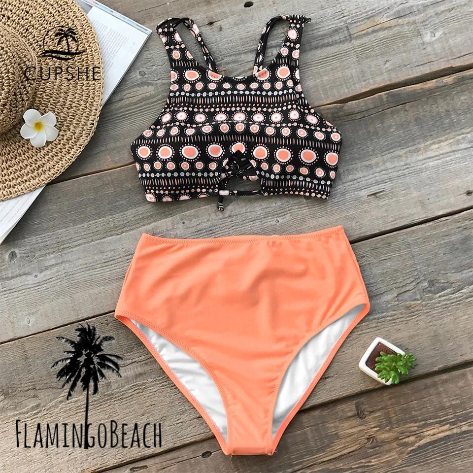 【FlamingoBeach】pattern high west bikini ビキニ