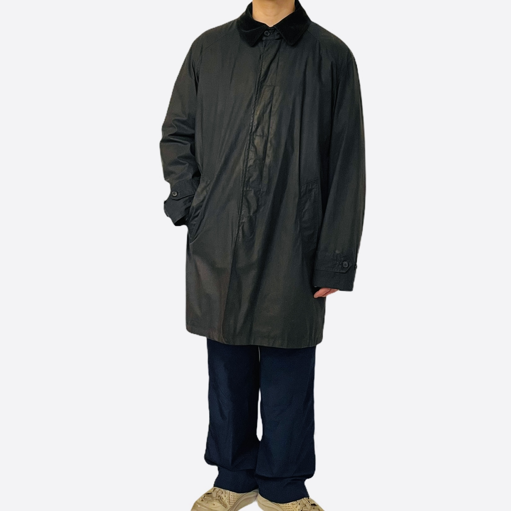 Barbour Merton MAC coat made in England Navy XL