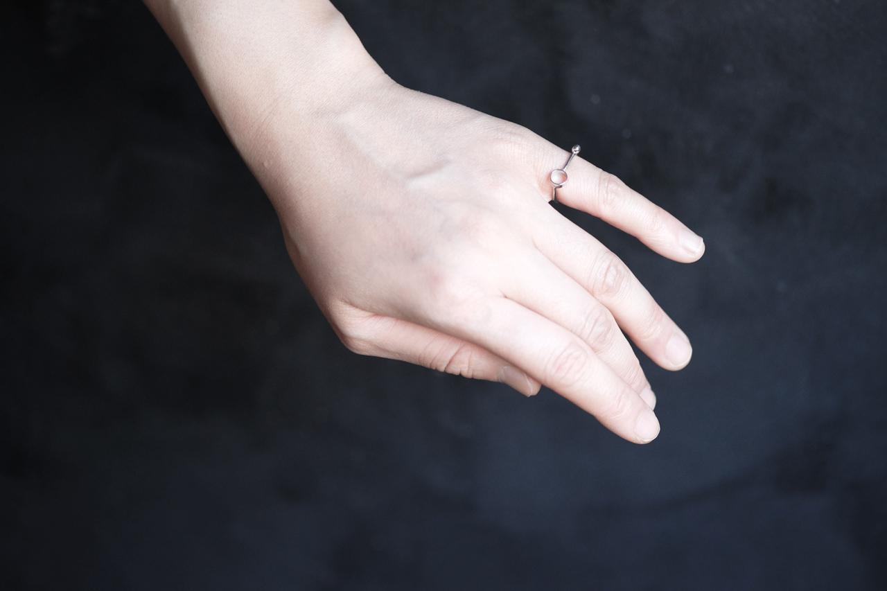 線と円の指輪no2 (silver)
