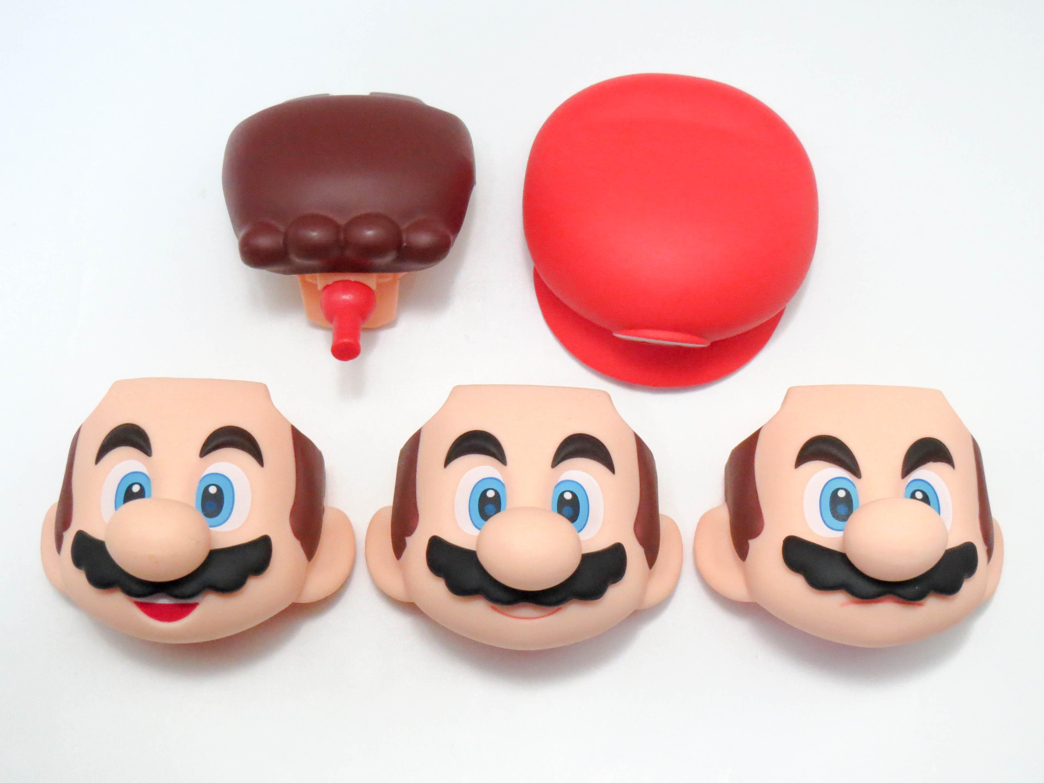 【SALE】【473】 マリオ 顔、帽子パーツ 普通、笑顔、キリリ顔 ねんどろいど