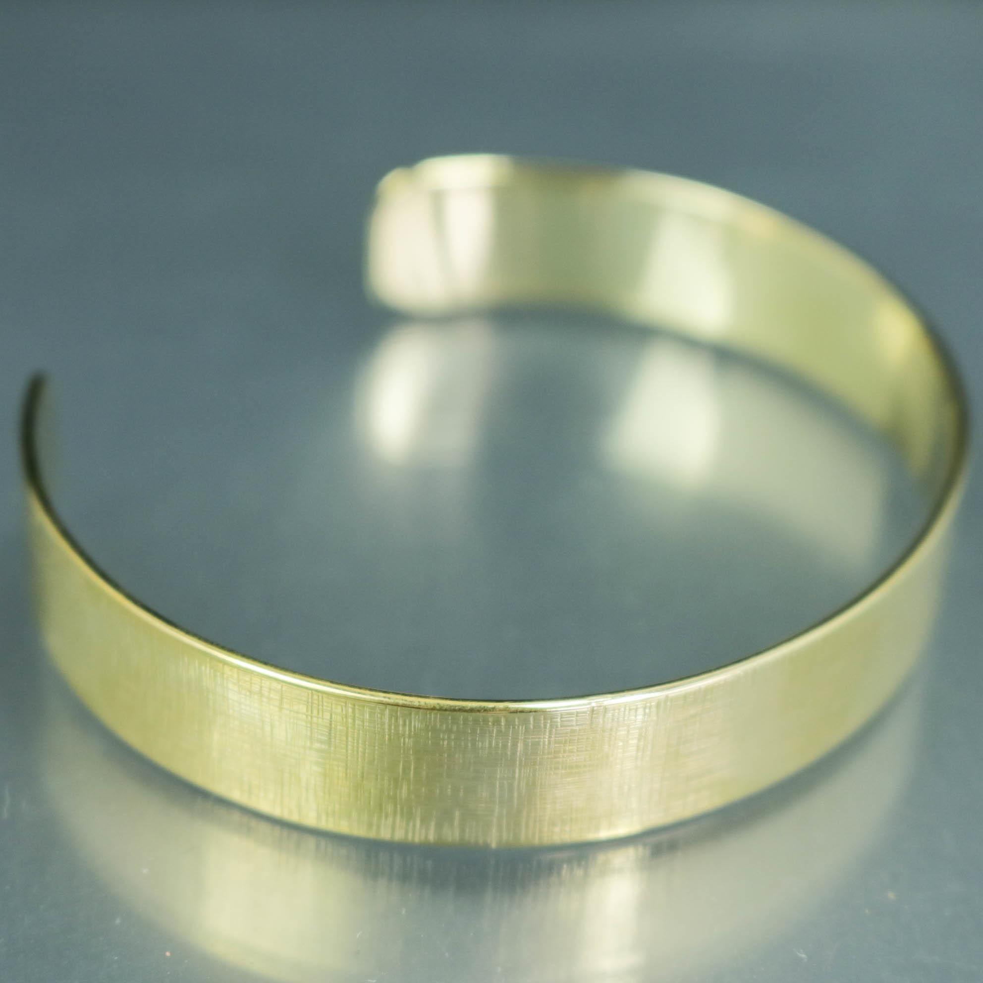 真鍮バングル (幅1cm) 【BN0015】
