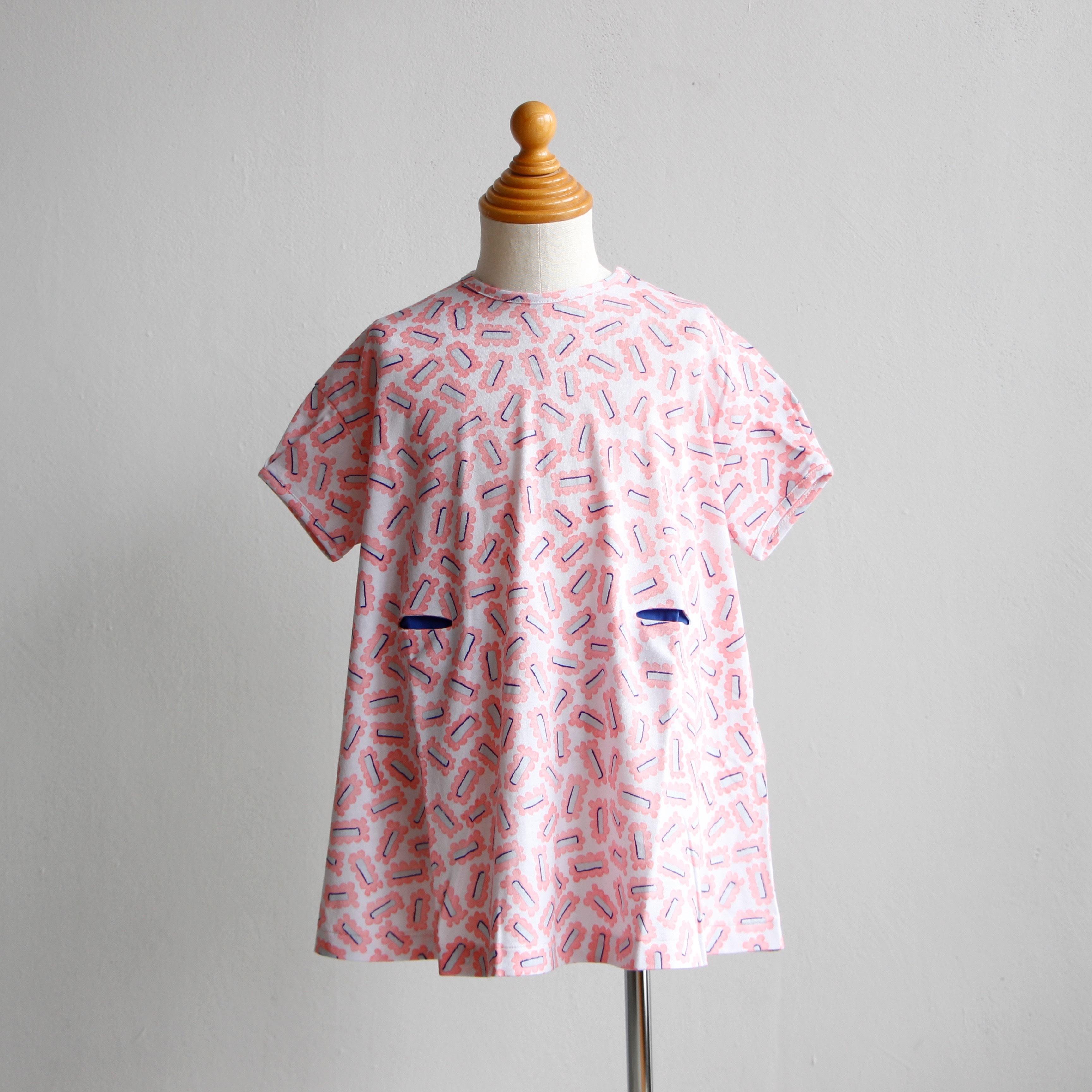 《mina perhonen 2019SS》biscuits ワンピース / pink / 80-100cm