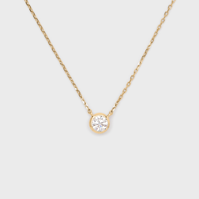 ENUOVE frutta Diamond Necklace K18YG(イノーヴェ フルッタ 0.3ct K18イエローゴールド フクリン留めダイヤモンドネックレス アジャスターワカンチェーン)
