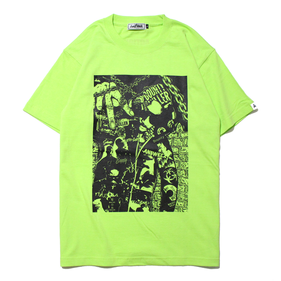 "AnSWeR clothes ""BOUNTY KILLER"" S/S Tee [LIME GREEN]"