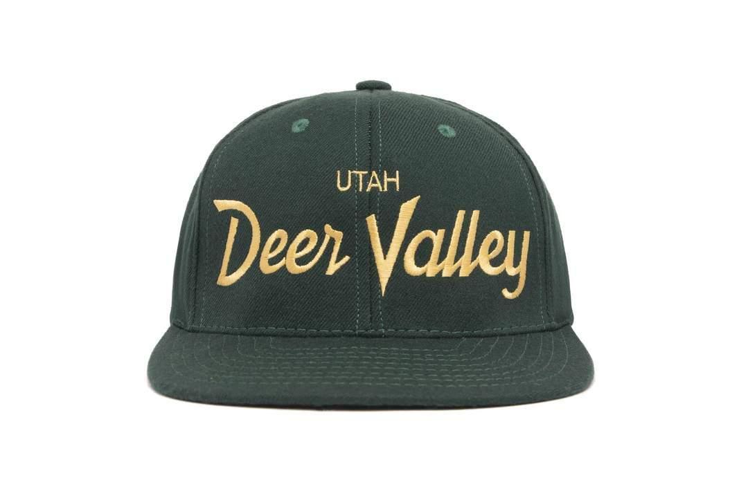 "HOOD®︎ ""Deer Valley"" CAP GREEN × GOLD"