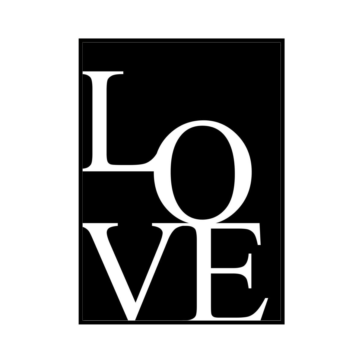 """""""LOVE"""" Black - POSTER [SD-000586] A4サイズ ポスター単品"""