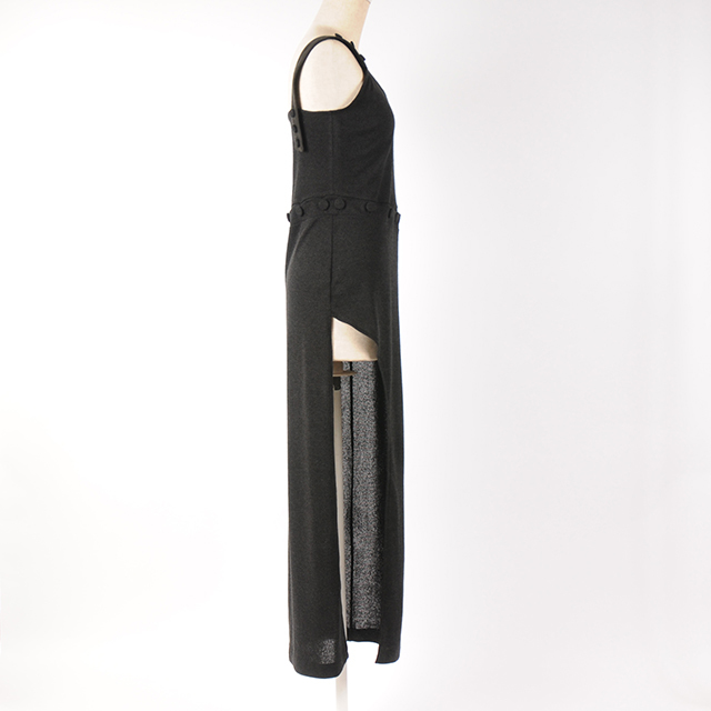hs18AW-IR13 SLIT LONG BUTTON OP (black)