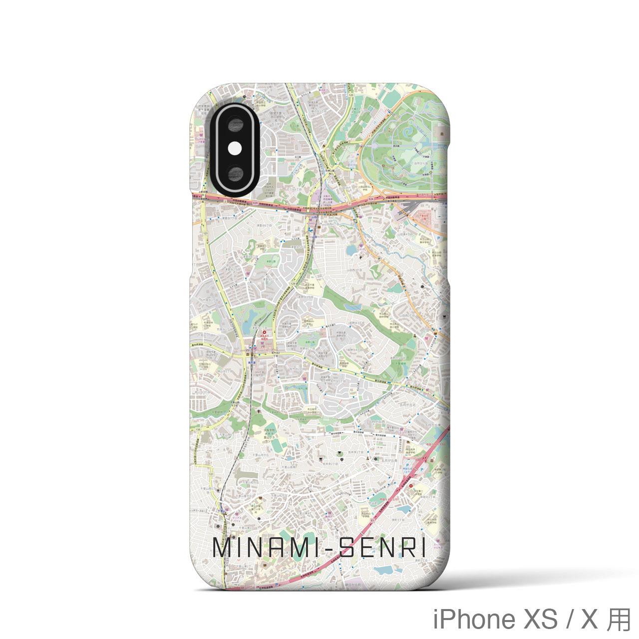 【南千里】地図柄iPhoneケース(バックカバータイプ・ナチュラル)