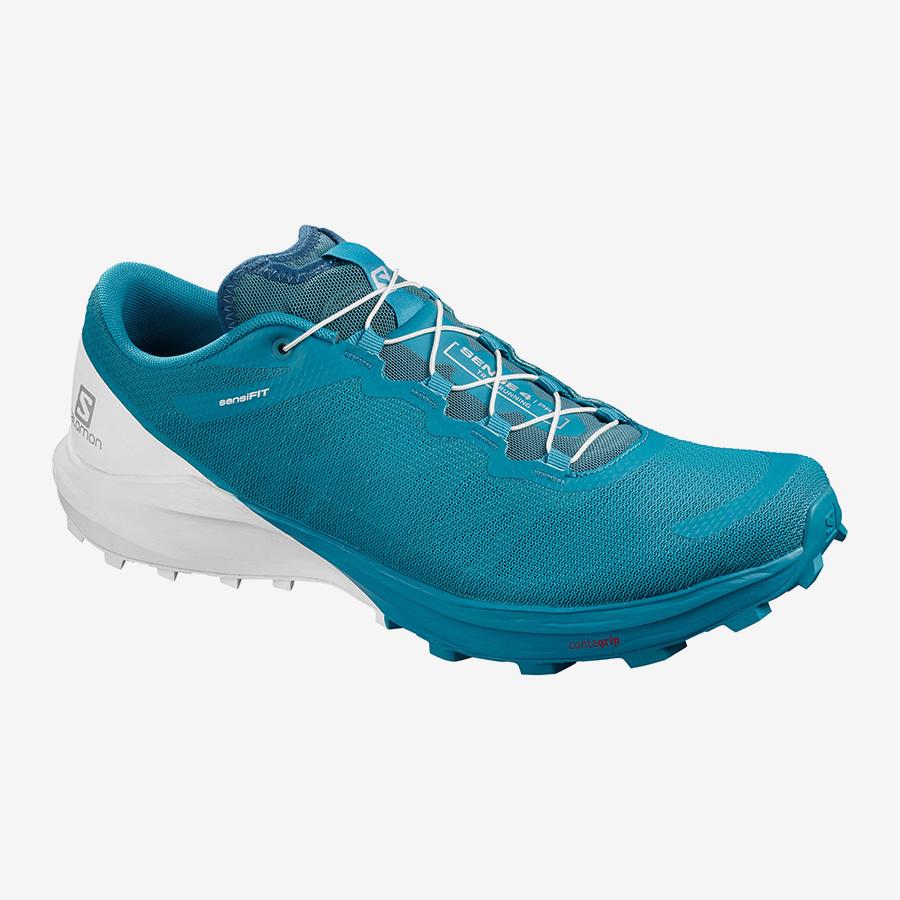 【クリアランス20%オフ】Salomon サロモン メンズ Men SENSE 4 /PRO L41043000 Fjord Blue / White / Icy Morn
