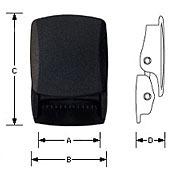 YKK ベルト用 バックル ベルトバックル WB38DA 黒 1個