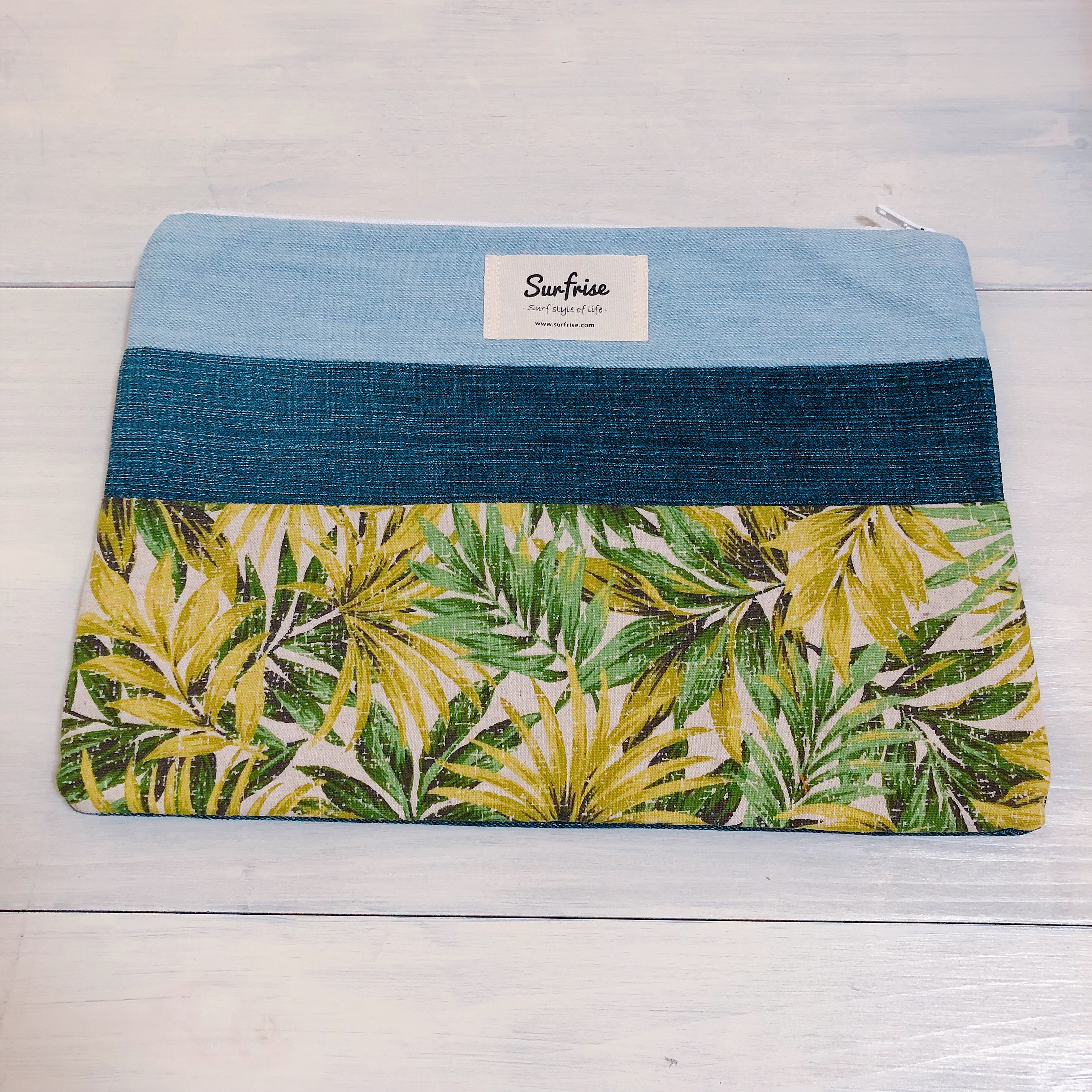Denim clutch bag F99(Green)