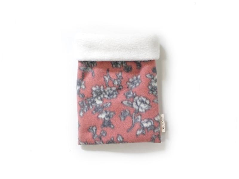 ハリネズミ用寝袋 S(冬用) フリース×フリース 芍薬 桃