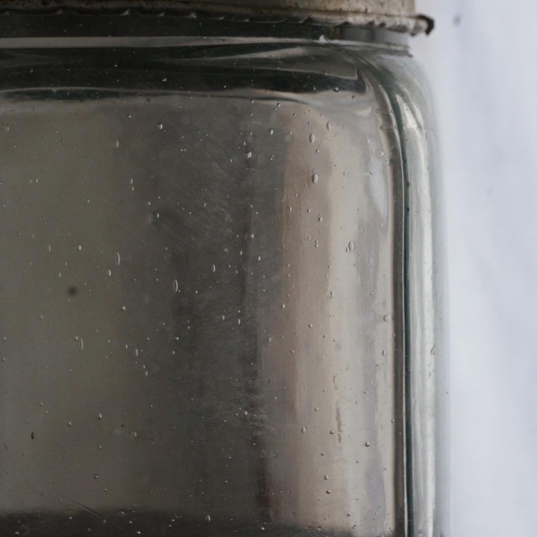 古い国産のガラス瓶(小)