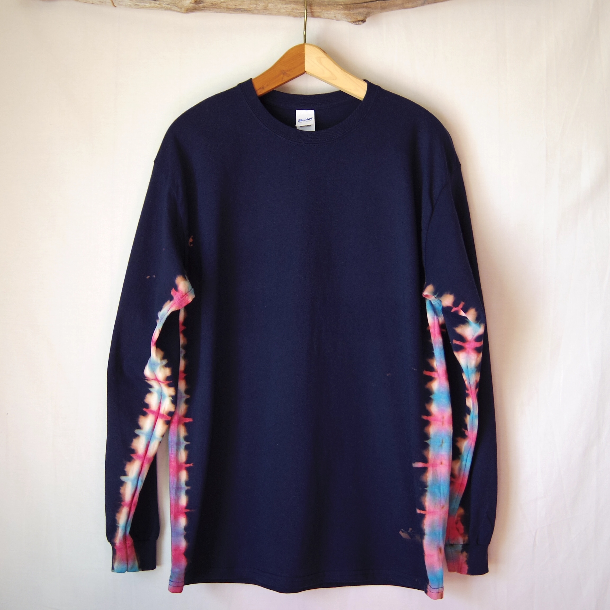 """TKHOME FACTORY """"抜染-nukizome-"""" TieDye Long sleeve T-shits / Lsize Navy"""