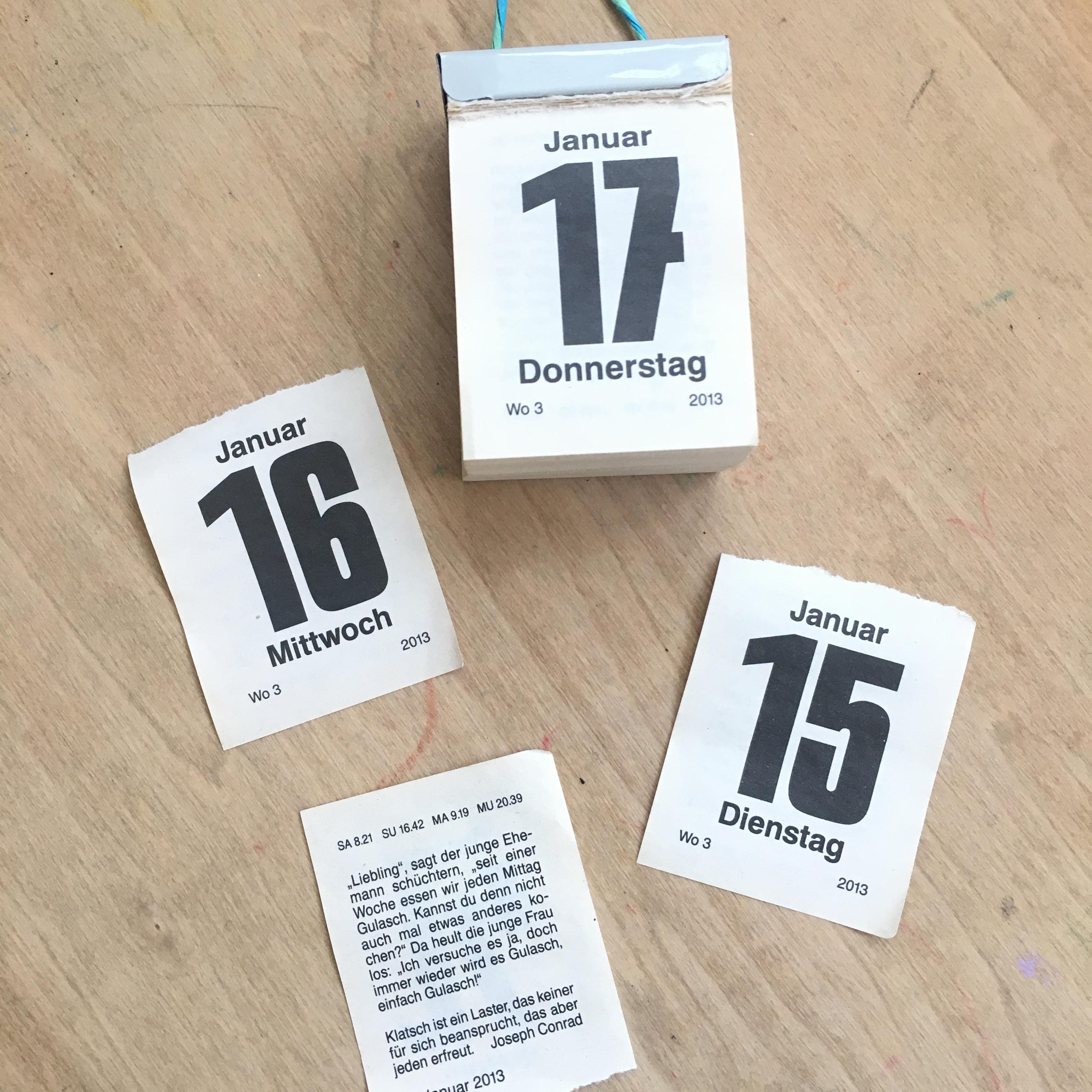 BRUNNEN(ドイツ)日めくりカレンダー2019