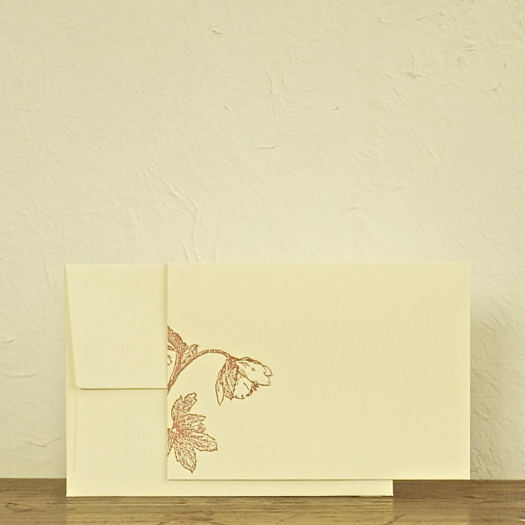 message card クリスマスローズ