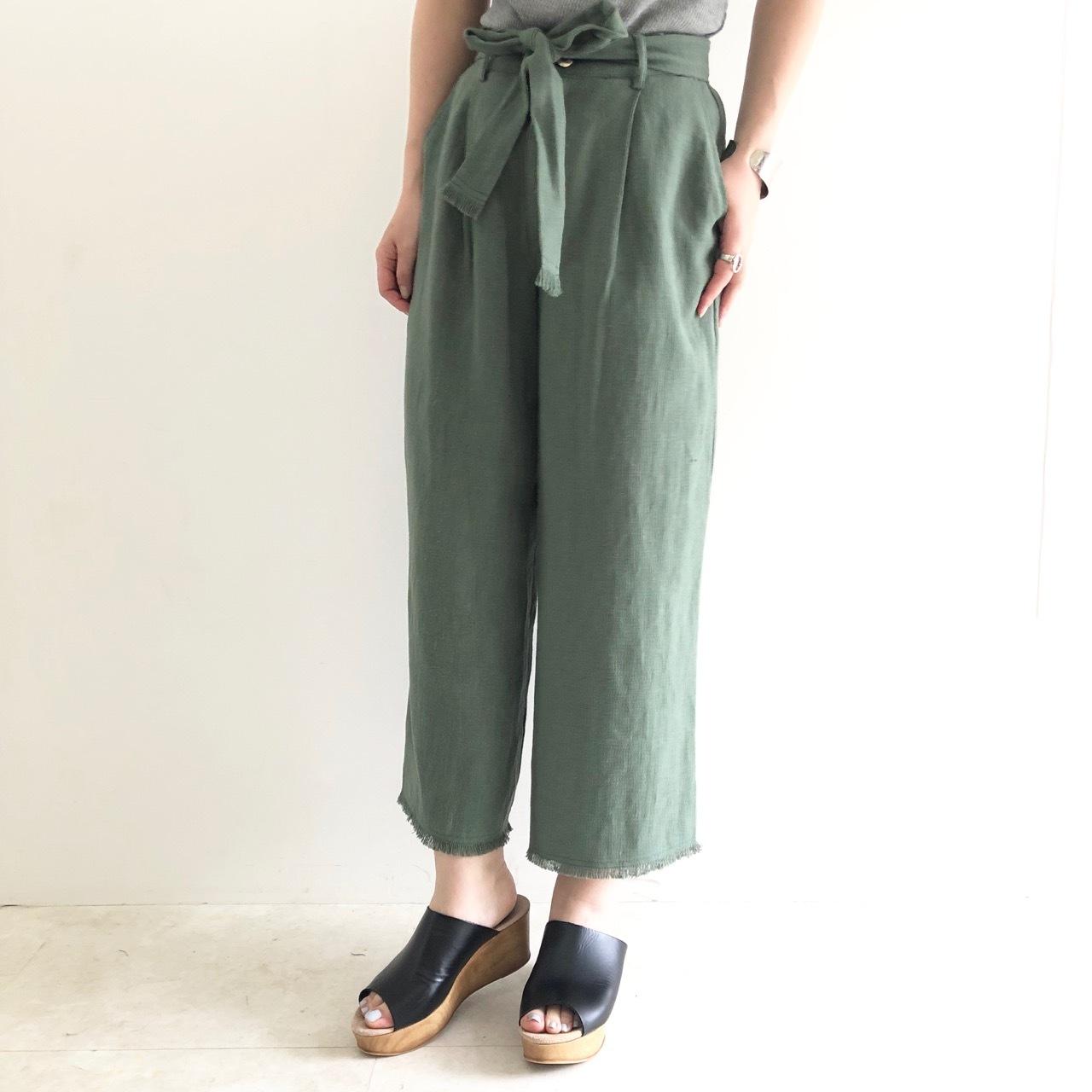 【 anna kerry 】- 85191611 -リネンワイドパンツ