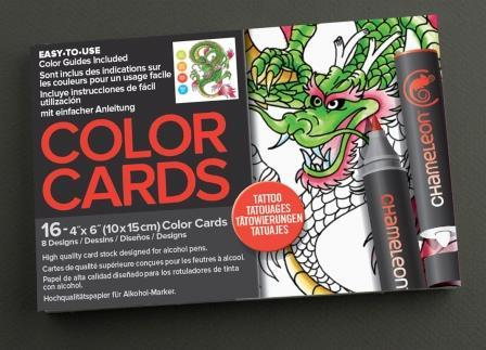 Chameleon Pen Totally Tattoo Color Cards (カメレオンペン タトゥー カラーカード)