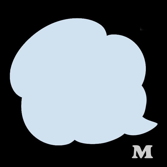 ふきだしB-1(M)★ライトブルー