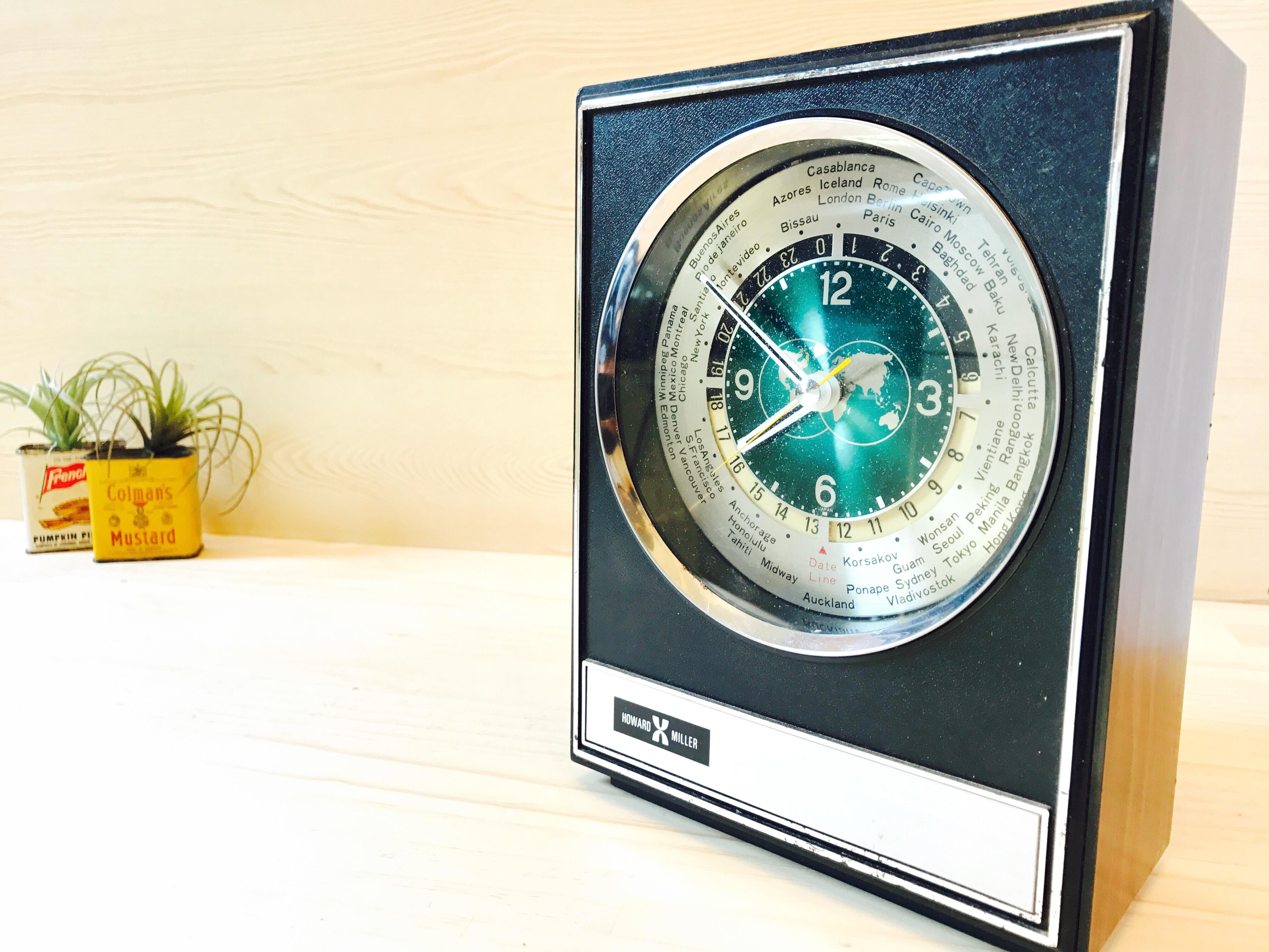 ハワードミラー ワールドウッドクロック 置き時計