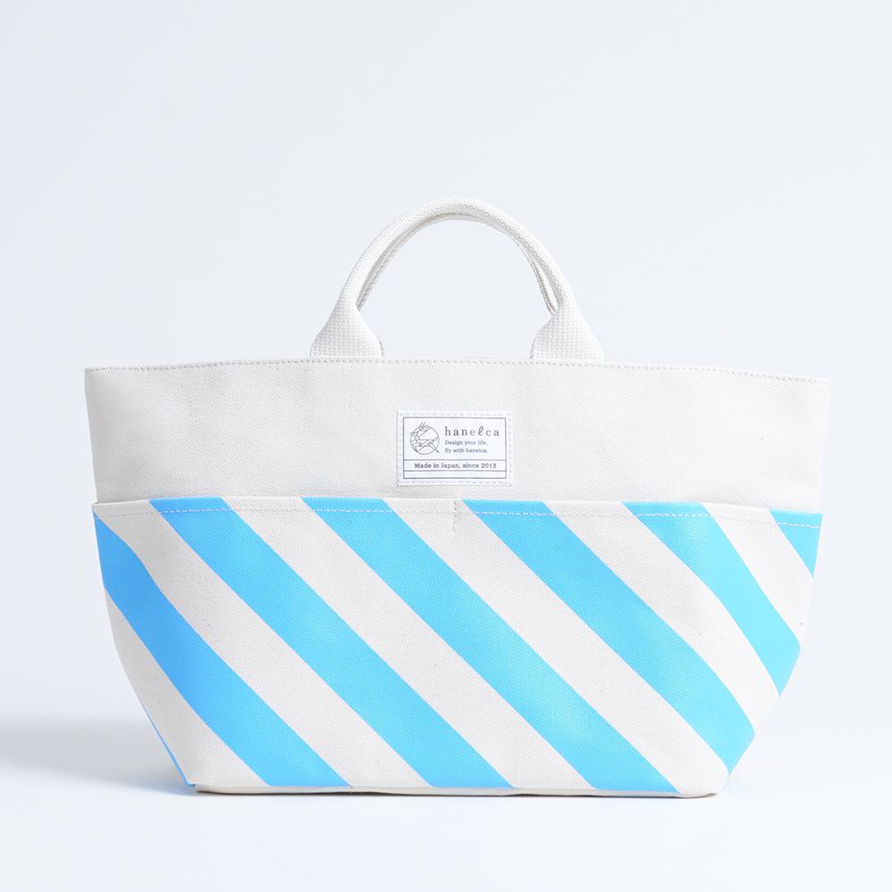 picnic tote/sky x stripe, scale, dot ピクニックトート / 空 x 縞・鱗・水玉
