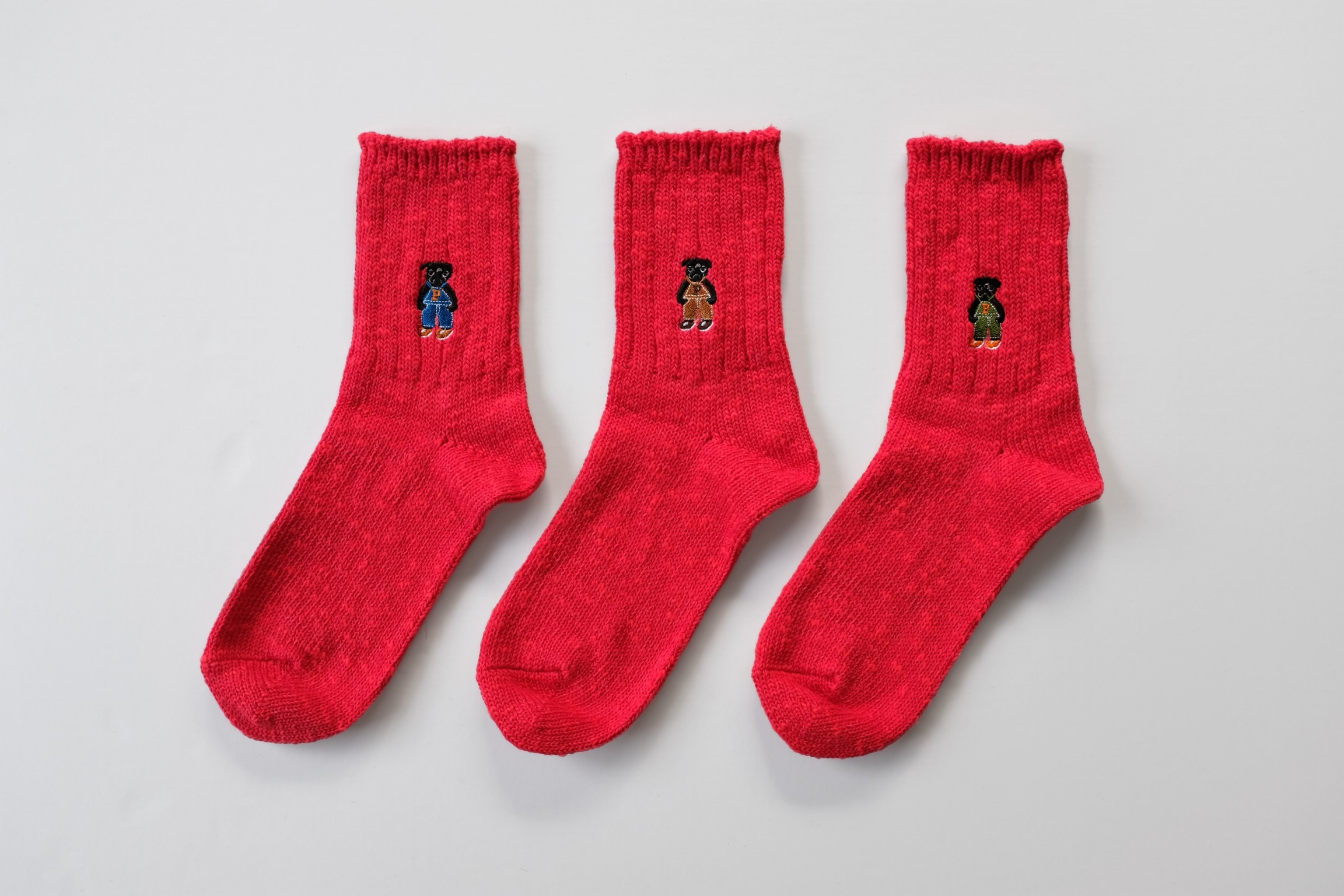 SBW Pug Socks[Red]