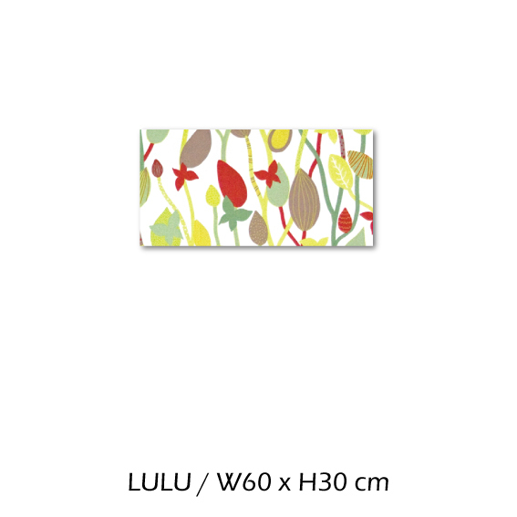 北欧生地 ファブリックパネル 横60 cm x 縦30 cm Kinnamark LULU 受注販売商品 (100428)