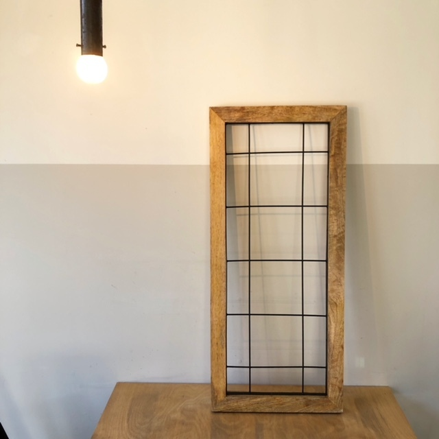 Wood frame wall deco ウッドフレーム 70.5×31cm