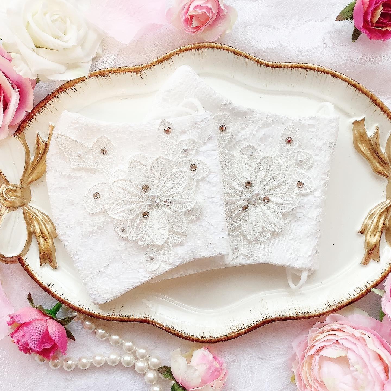 【10/18(日)21時より出品/予約販売】手作りドレスマスク(女性サイズ)