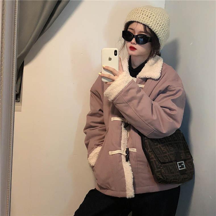 【送料無料】 もこもこMIX♡ ボア襟 ミディ丈 ダッフルコート カジュアル ジャケット くすみカラー