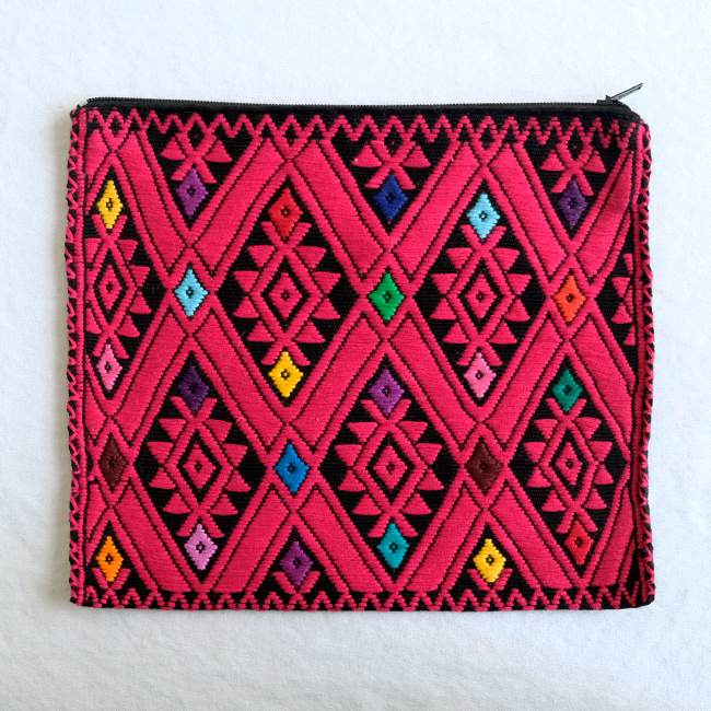 ララインサールの手織りポーチ /227d/ MEXICO メキシコ