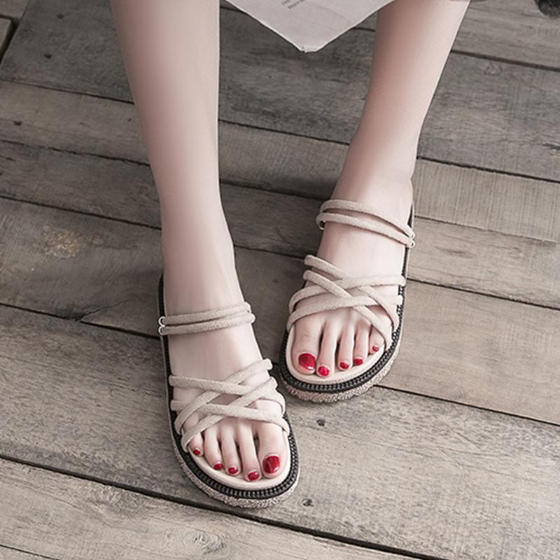 【shoes】カジュアル無地合わせやすいサンダル20045782