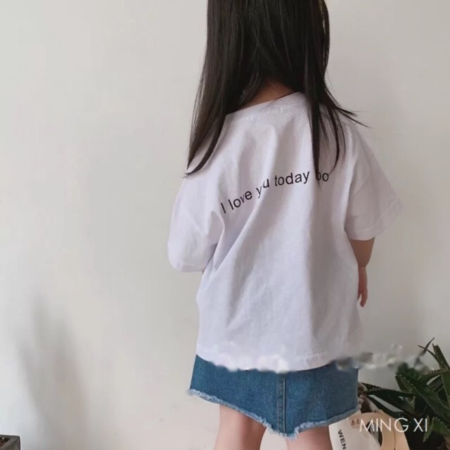 バックレターTEE ホワイト【T074】