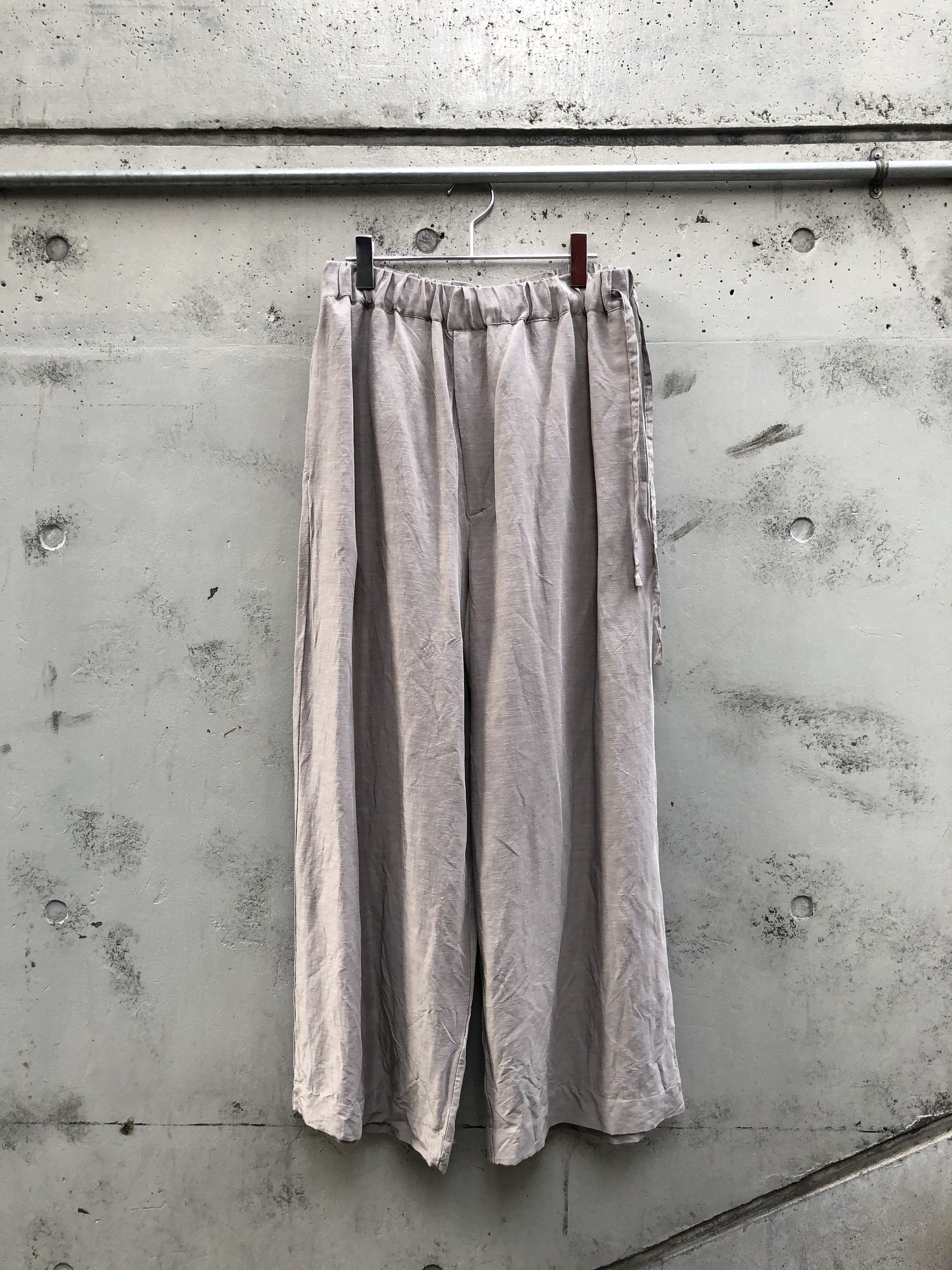 『VOAAOV』linen rayon  wide pants / GRAY size 1