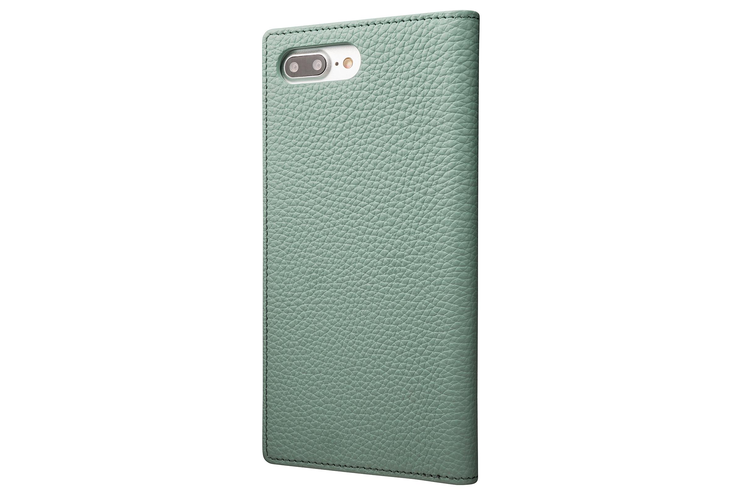 GRAMAS Shrunken-calf Full Leather Case for iPhone 7 Plus(Blue) シュランケンカーフ 手帳型フルレザーケース - 画像2