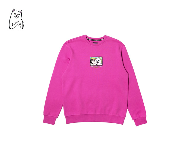 RIPNDIP|Lady Friend Crewneck (Fuchsia)
