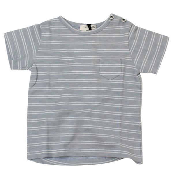 1+in the family ボーダー半そでTシャツ