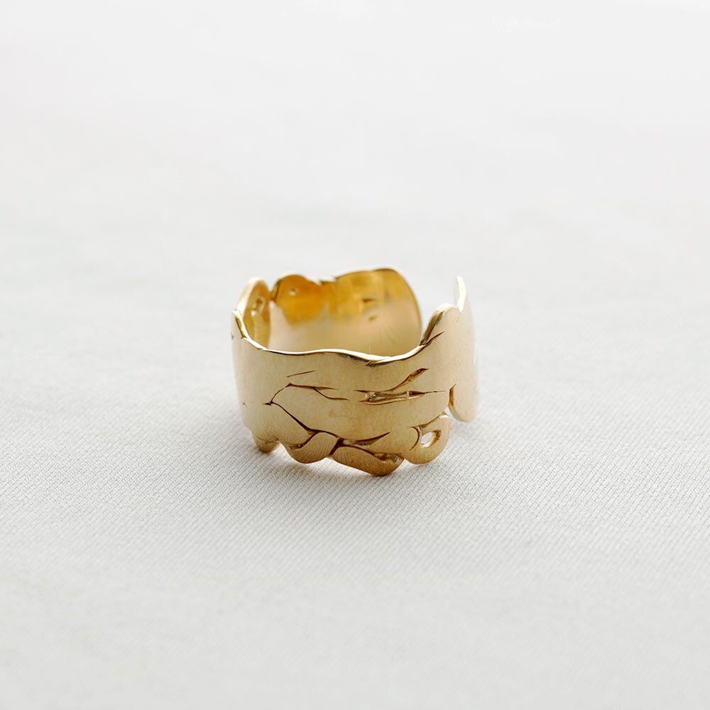 moments / wide ring - S (gold)