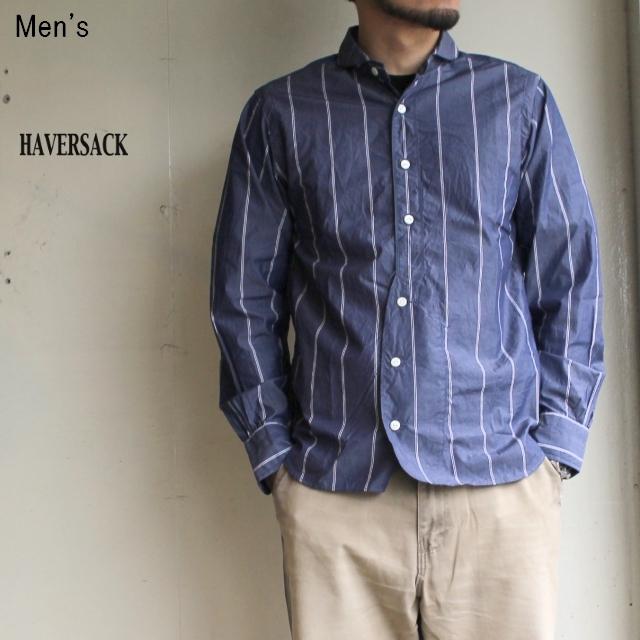 HAVERSACK ハイカウントポプリンシャツ (NAVY)