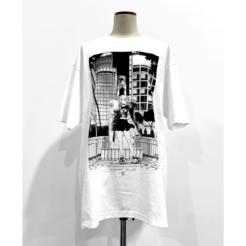 〈よふかしのうた 描き下ろし商品〉NIGHT OUT CITY-SHIBUYA-  ビッグTシャツ