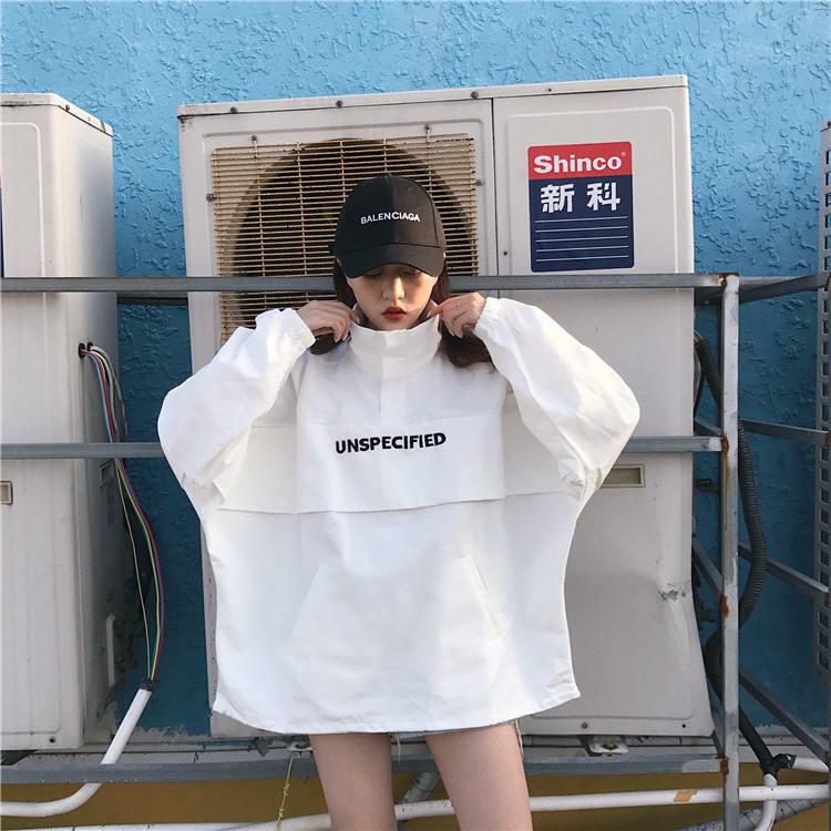 【送料無料】メンズライク ♡ カジュアル ストリート オーバーサイズ  ハイネック ロゴ プルオーバー