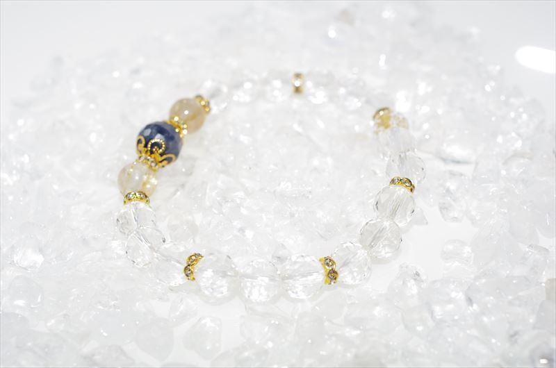 Sapphire birthstone(9月誕生石)【パワーストーンブレスレット 】 - 画像5