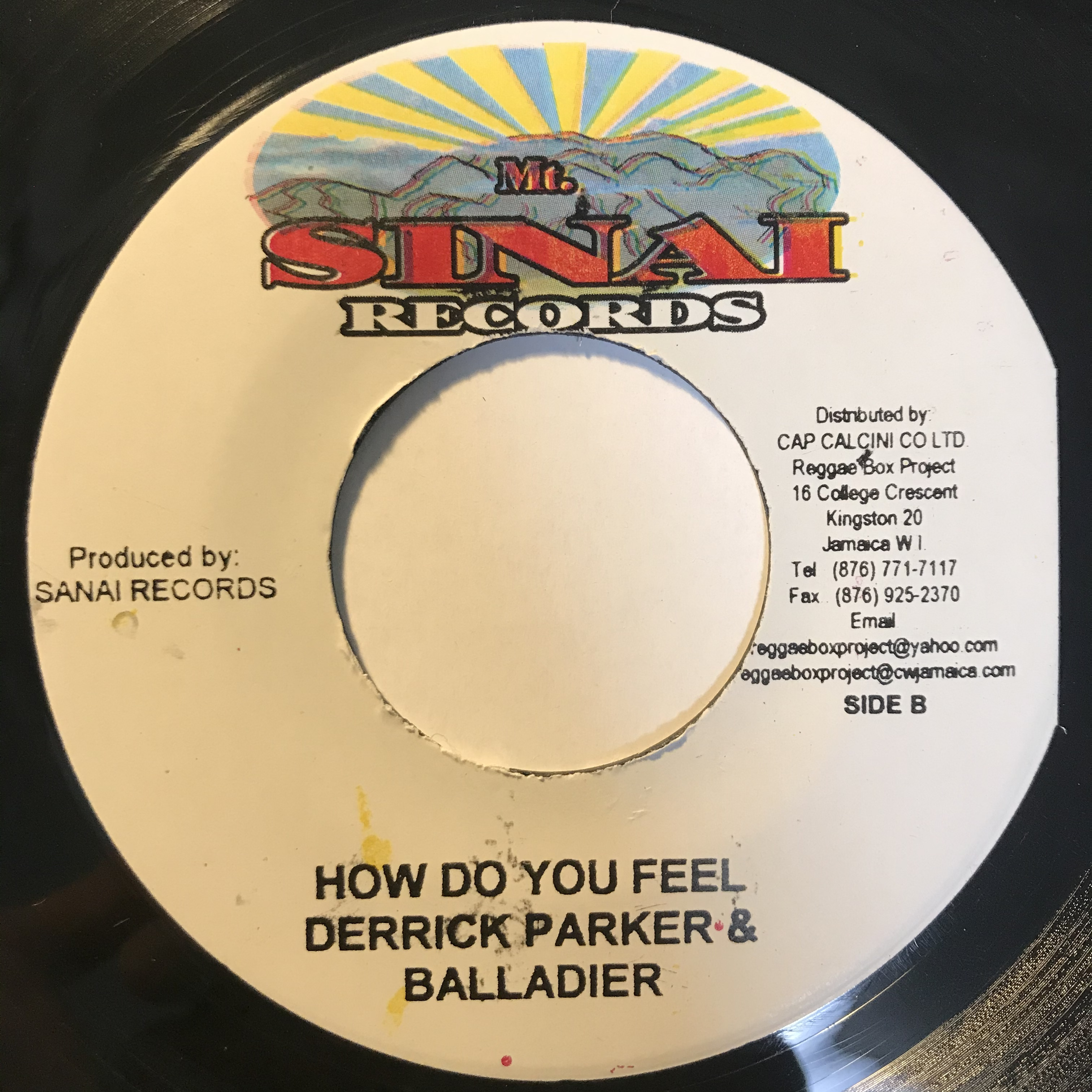 Derrick Parker & Balladier - How Do You Feel【7-1089】